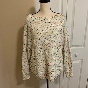 Sweaters - NWOT Large Vine & Love Confetti Sweater